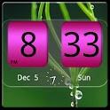 FlipClock NiceAll Pink Widget logo