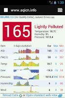 Screenshot of Chengdu Air Quality 成都空气质量