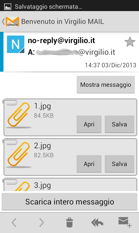 Virgilio Tin.it - Mail - screenshot