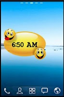 Screenshot of Smiley Alarm Clock Widget