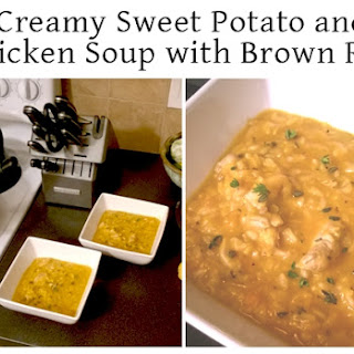 Creamy Sweet Potato & Chicken Soup with Brown Rice