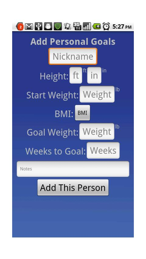 WeightRecord - screenshot