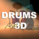 Drums 3D icon