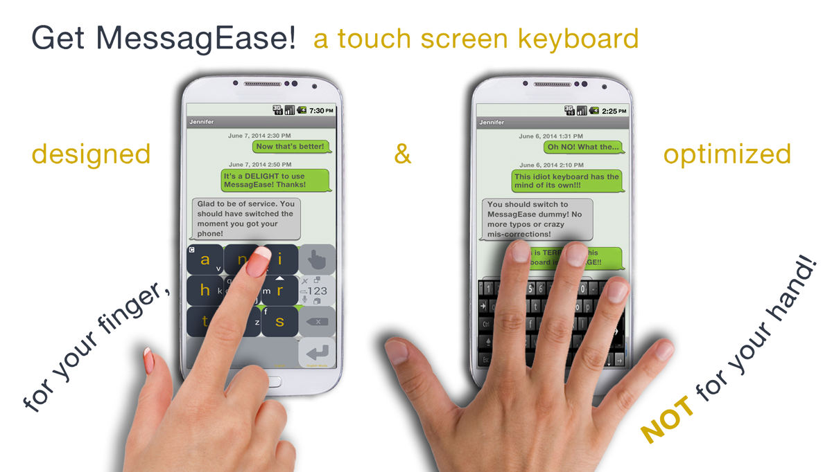 MessagEase Keyboard - screenshot