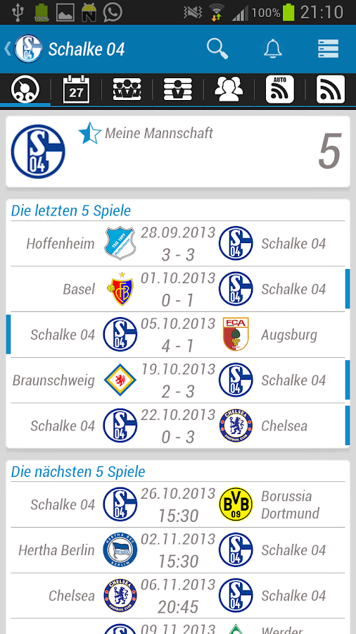 FC Schalke 04 App - screenshot