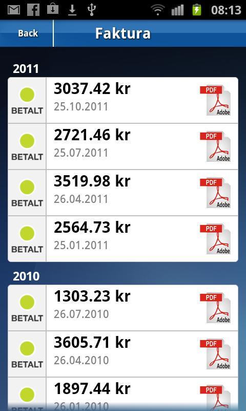 MinStrøm- screenshot
