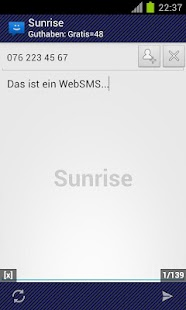 WebSMS: Sunrise Connector- screenshot thumbnail