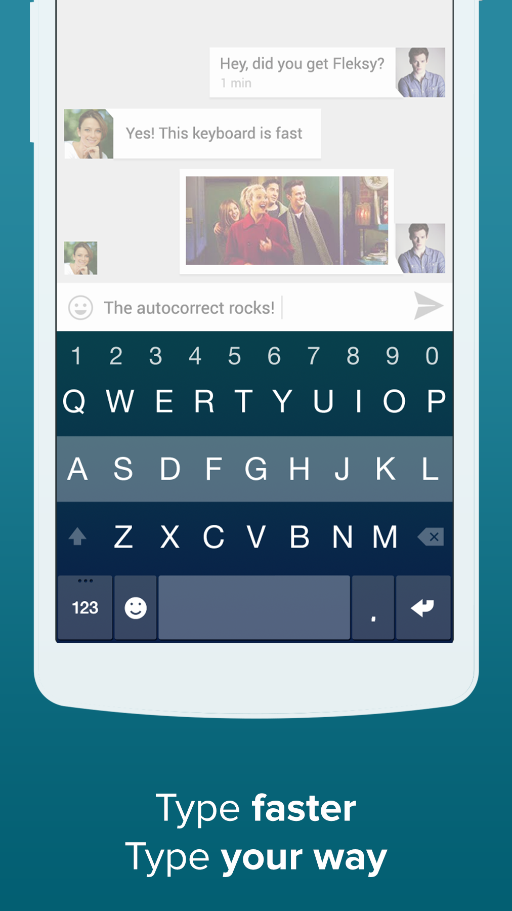 Fleksy + GIF Keyboard screenshot #3