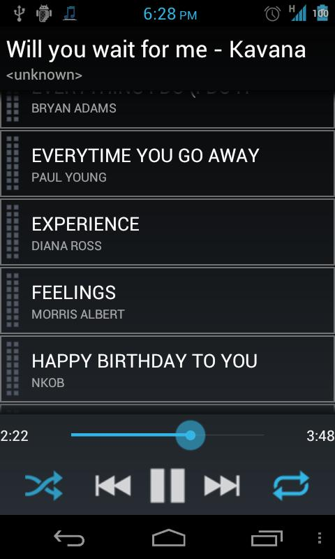 Simple Music Player - screenshot