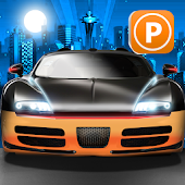 3D Sports Car Night Parking 2