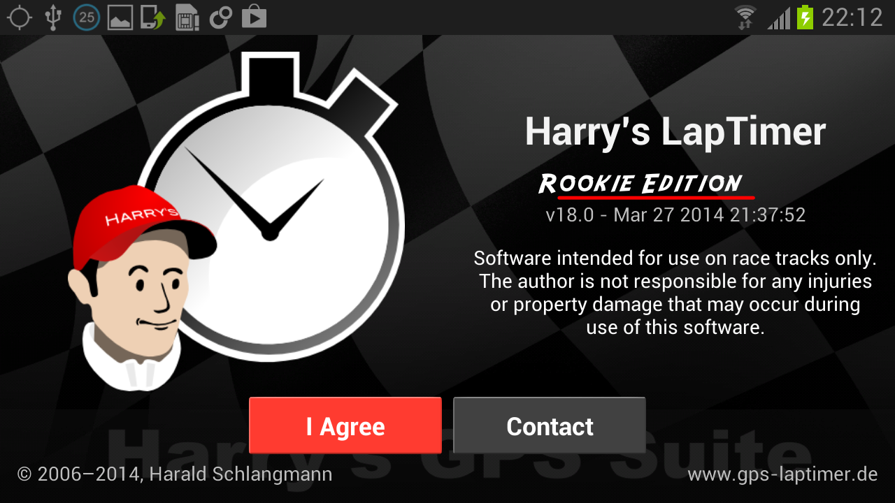 Harry's LapTimer Rookie- screenshot