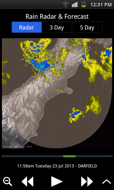 MetService Rural Weather App- screenshot