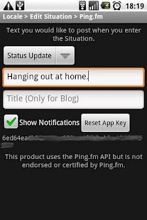 Locale Ping.fm Plug-In Pro - screenshot thumbnail