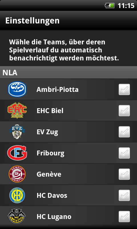 SC Bern - screenshot