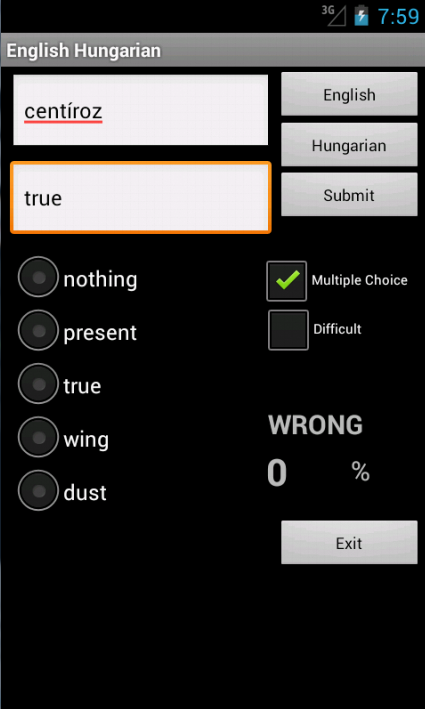 Learn English Hungarian - screenshot