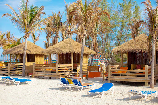 CocoCay-cabanas - You can rent out a private cabana on the beach during your day trip to CocoCay in the Bahamas