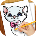 Download Android Game Learn to Draw Cat Kitten Kitty for Samsung