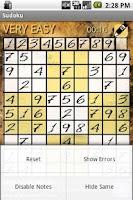 Screenshot of Sudoku - brain training