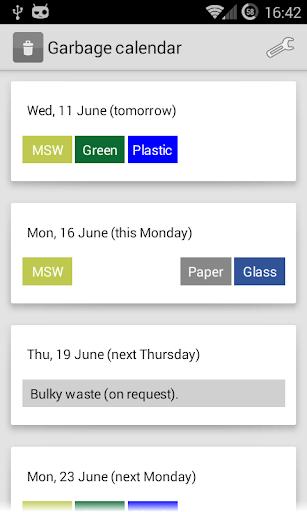 Garbage Calendar Ghent