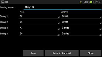 Screenshot of Bass Guitar Note Trainer
