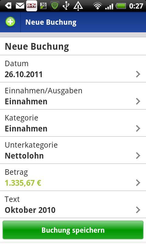 VSB Haushaltsplaner- screenshot