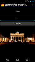 Screenshot of German Numbers Trainer FREE