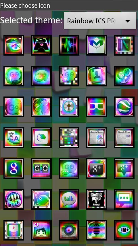 Rainbow ICS GO Launcher EX PRO - screenshot