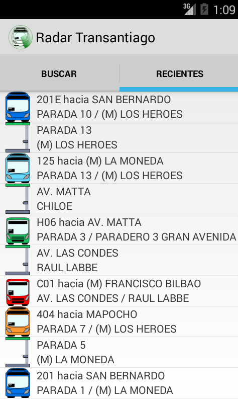 Radar Transantiago- screenshot