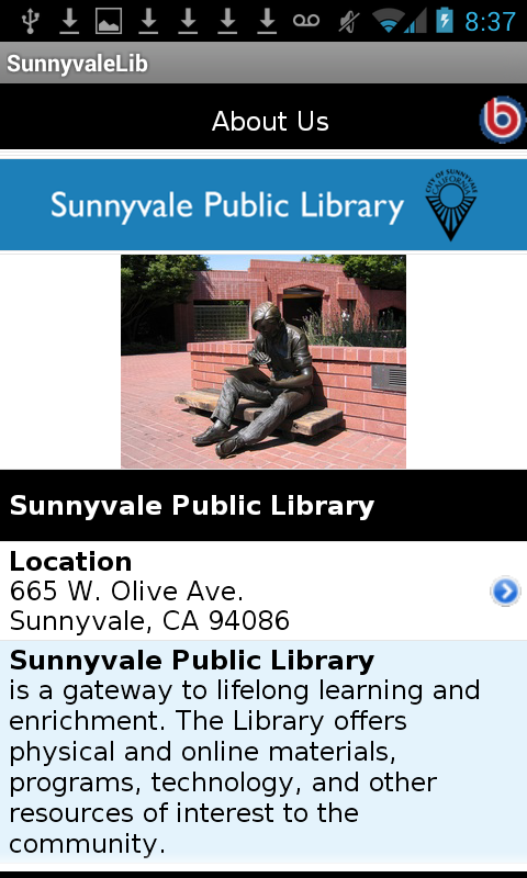 Sunnyvale Public Library- screenshot