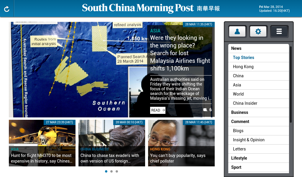 SCMP Tablet Edition - screenshot