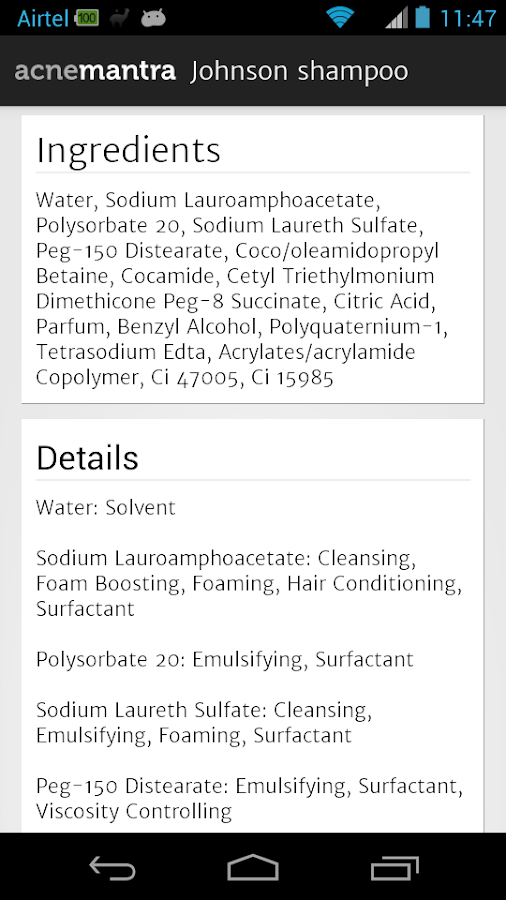 Skingredients For Acne Prone- screenshot