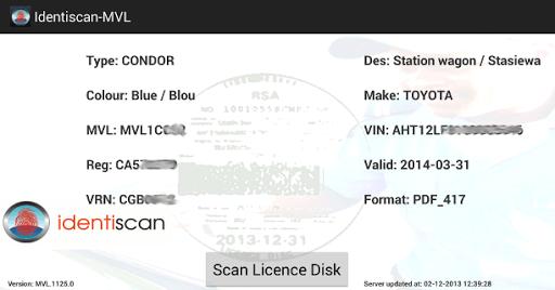 Identiscan - MVLogger