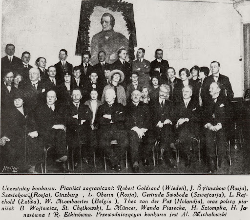 Jurors and participants of the 1st Competition (1927)