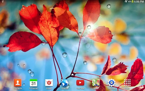 Galaxy S4 Rain Live Wallpaper - screenshot thumbnail