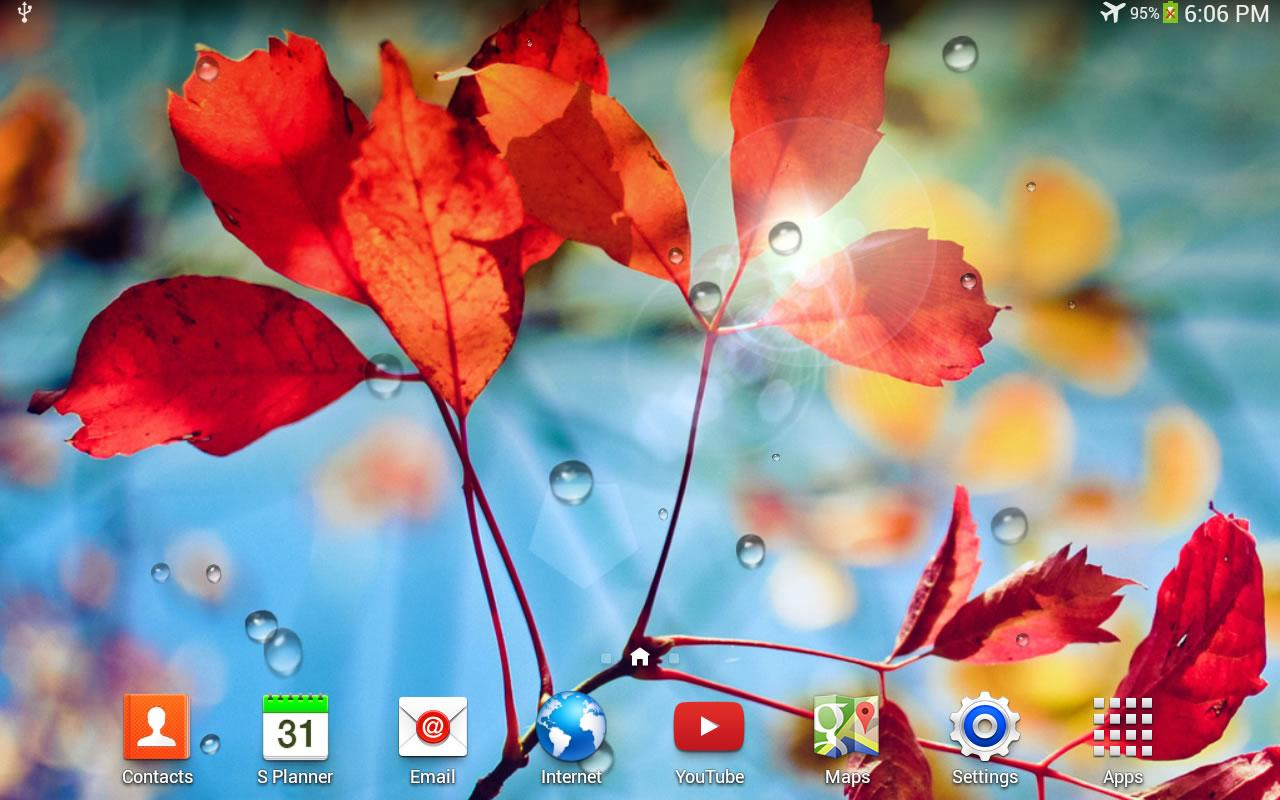 Galaxy S4 Rain Live Wallpaper - screenshot