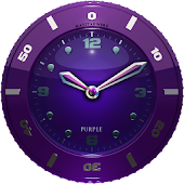 Clock Widget purple HQ