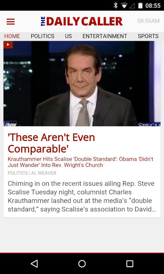 The Daily Caller - screenshot
