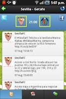 Screenshot of Liga Tweets 2015/16