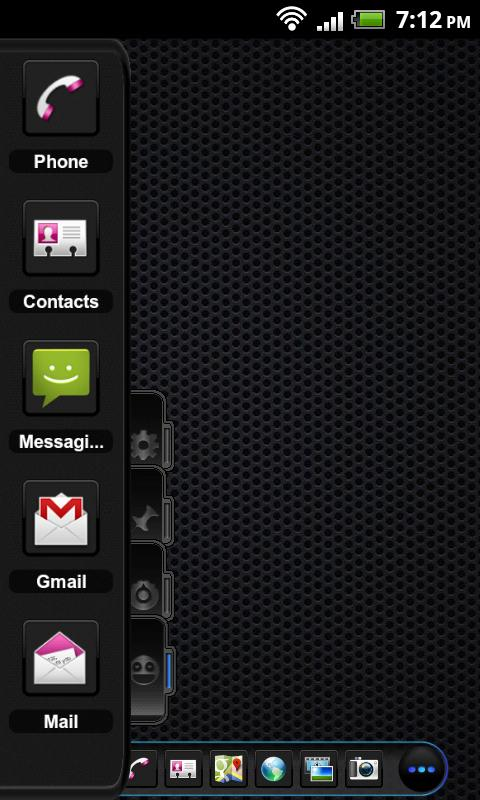 TSF Shell Theme Black On Black- screenshot