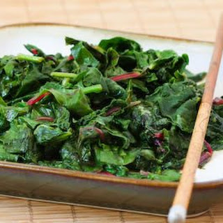 Spicy Stir-Fried Radish Greens and/or Swiss Chard Recipe