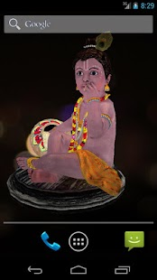 3D Little Krishna Wallpaper - screenshot thumbnail