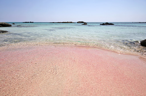 beach-Elafonisi-Crete-Greece - You'll find shades of pink in the beach of Elafonisi on the Greek island of Crete.