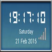 MetalGlass DigitalClock Widget