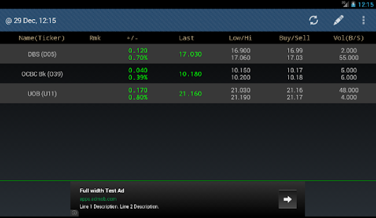 Singapore (SG) Stocks - screenshot thumbnail