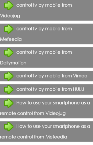 control tv by mobile
