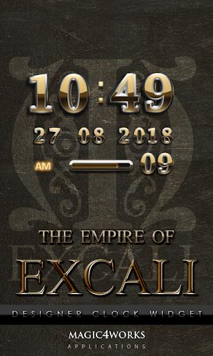 Excali Digital Clock Widget