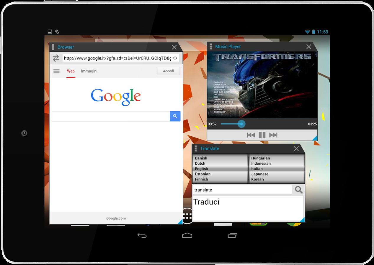 Multitasking- screenshot