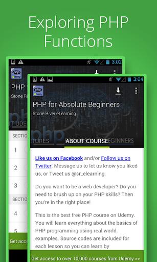 Free PHP Tutorials by Udemy