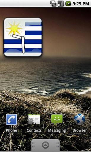 Uruguay Flag Clock Widget