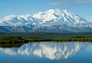 Wonder Lake in Denali National Park lives up to its name.